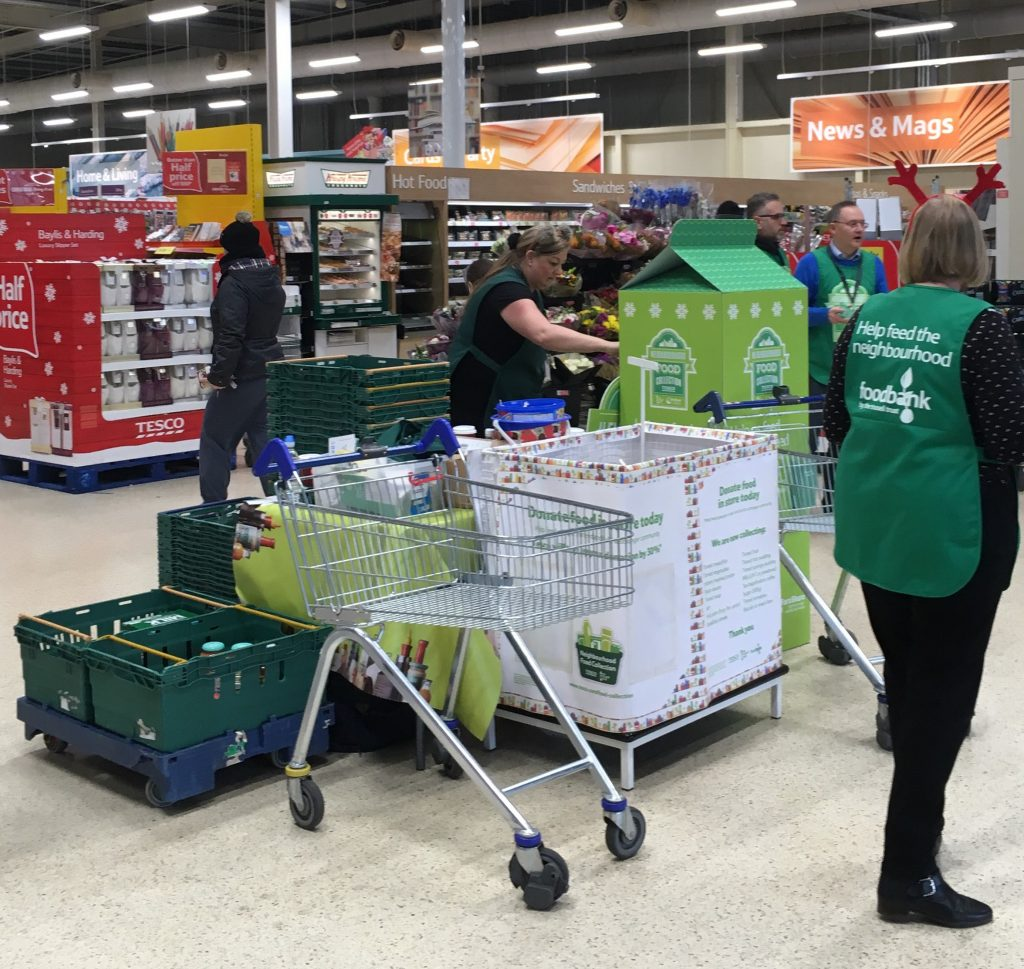 Beeston Shenton Help Collect Food Parcels for Local Foodbank Charity