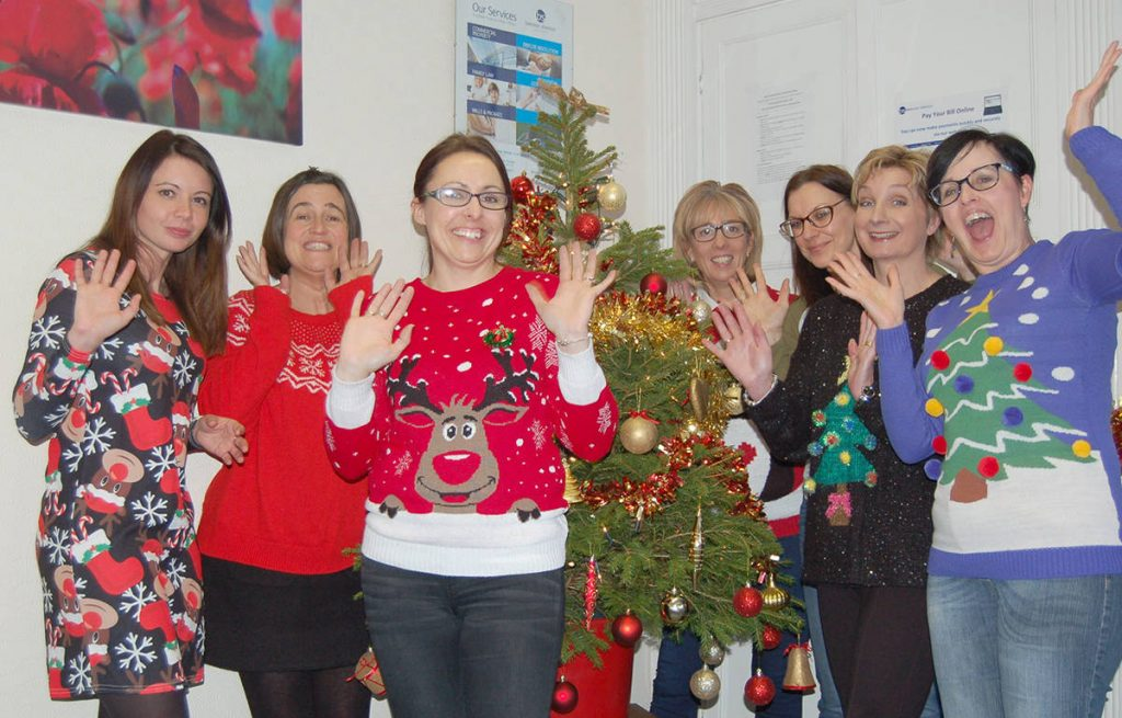 Raising Funds On Christmas Jumper Day To Support The Donna Louise Trust