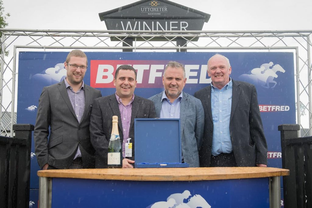 Paul Shenton Assists In Presenting Race Winner Prize at Uttoxeter Racecourse