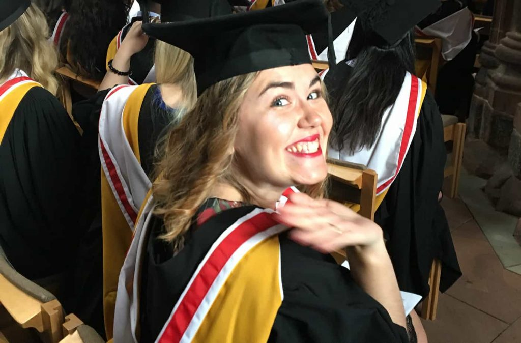 Bethany Stanway Awarded a Bachelor of Law with Honours