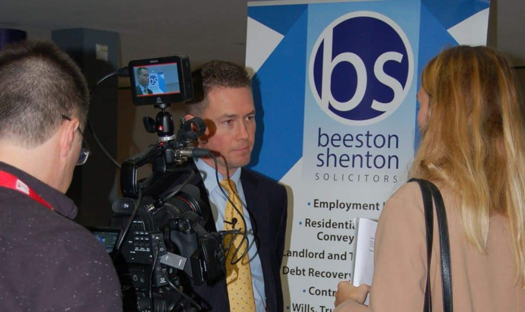 Beeston Shenton Attend Staffordshire Universiry FutureFest Law Fair