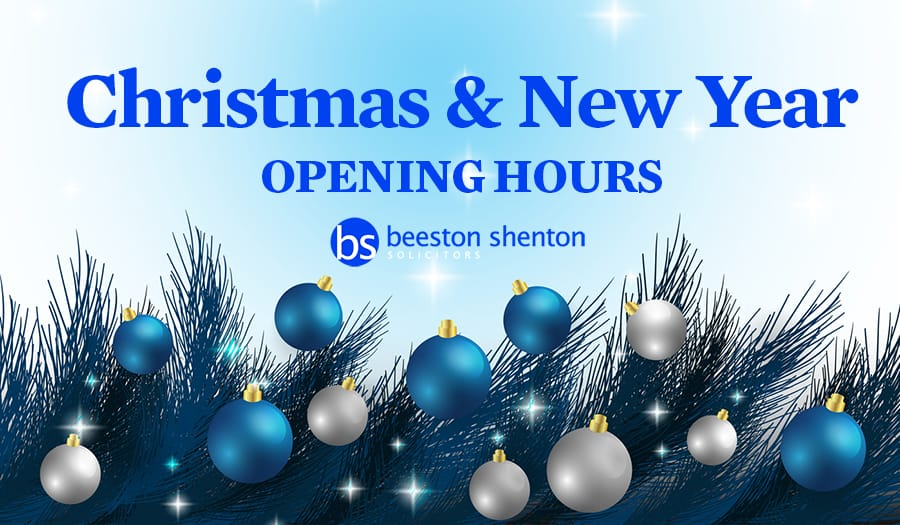 Christmas and New Year 2017 Opening Hours