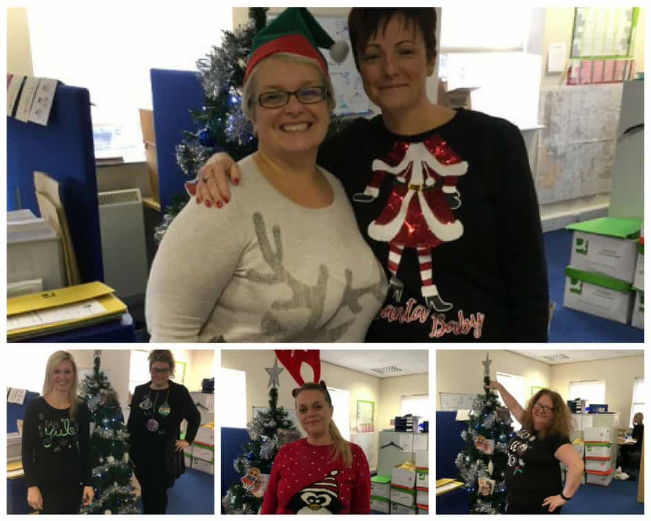 Crewe team Christmas jumper day